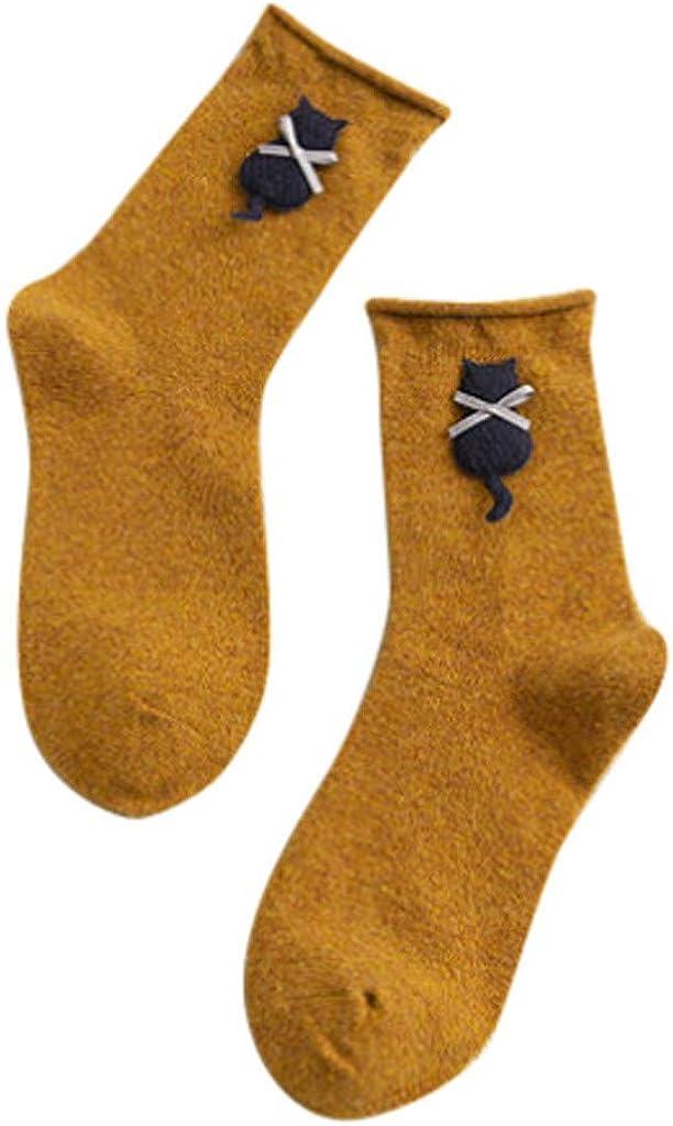 TwoCC-Socken,1 Paar Mode Cartoon B/är N/ähen Wolle Einfarbig Baumwolle Curling Str/ümpfe