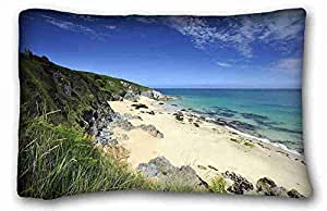 Custom Characteristic Nature Custom Cotton & Polyester Soft Rectangle Pillow Case Cover 20x30 inches (One Side) suitable for King-bed