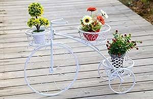 ecotrellis, bicicleta enrejado, enrejado de hierro, 1,8ft2.6ft, color blanco, 1P