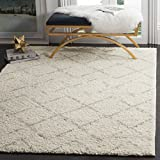 Safavieh Arizona Shag Collection ASG743A Southwestern Diamond Geometric Ivory and Beige Area Rug (3′ x 5′) Review