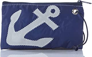 """product image for Metallic Anchor Wristlet Recycled Sail Cloth 5""""h x 7.5""""w."""