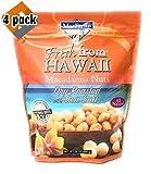 MacFarms Dry Roasted Macadamia Nuts With Sea Salt Fresh From Hawaii 24 Ounce (4 pack)