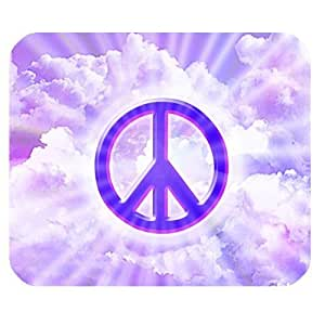 Generic Personalized Shiny Peace Logo and Clouds for Rectangle Mouse Pad
