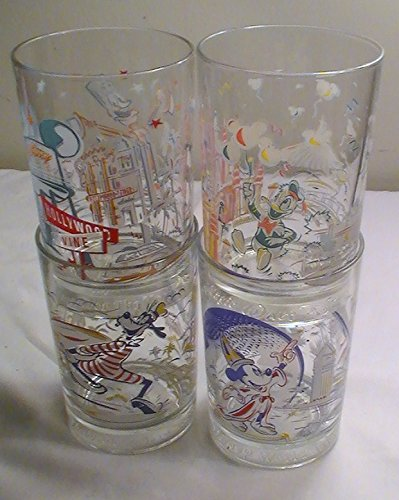 8c82bf5298 Amazon.com   McDonald   Disney s 25th Anniversary Disney Glasses - Set of 4    Everything Else
