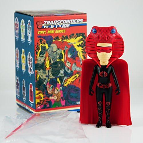 Kidrobot Transformers vs GI Joe Vinyl Mini Series Figure Serpentress 1//96 Hasbro