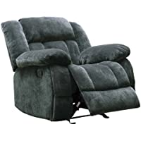 Homelegance 9636CC-1 Laurelton Textured Plush Microfiber Glider Recliner Chair, Gray