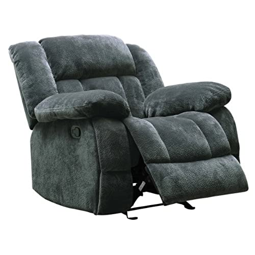 Homelegance 9636CC-1 Laurelton Textured Plush Microfiber Glider Recliner Chair Gray  sc 1 st  Amazon.com & Big Man Recliner: Amazon.com