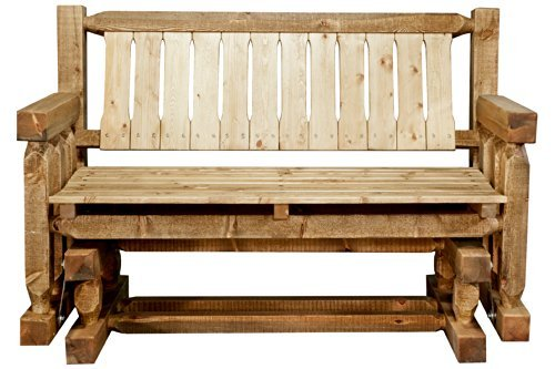 Montana Woodworks MWHCLGNRSL Homestead Collection Glider, Exterior Stain Finish - Rocker Glider Collection