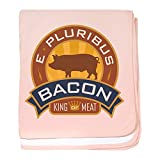 Royal Lion Baby Blanket Foodie E Pluribus Bacon King of Meat - Petal Pink