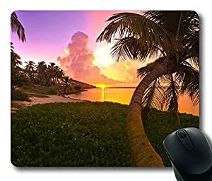Tropical Sunset Oblong Mouse Pad by Cases & Mousepads