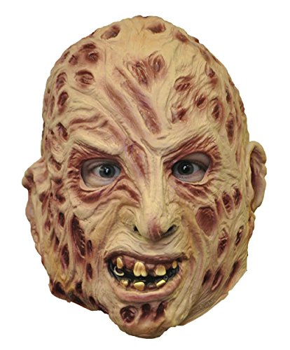 Kids Freddy Krueger Mask (UHC Men's Scary Freddy Krueger 3/4 Vinyl Mask Halloween Costume Accessory)