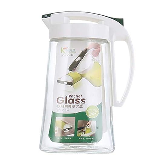 Jarra doble de vidrio de borosilicato con tapa para té de ...