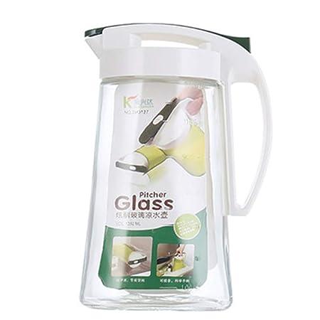 YYFZ - Botella de té de doble cristal de borosilicato con tapa ...