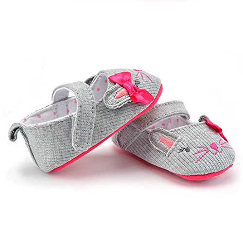 Belsen - Zapatos primeros pasos de Material Sintético para niña gris gris L