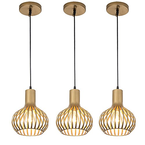 - Popilion Gorgeous Gold Metal Ceiling Pendant Light,3 Adjustable Pendant Light Fixture with Uniform Gold and Smooth Surface