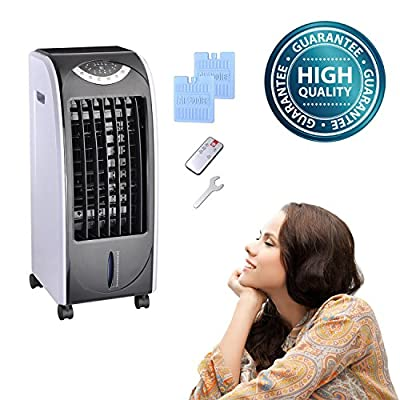 Koval Inc. 65w Portable Remote Control Evaporative Air Cooler Fan Humidifier w 6L Tank