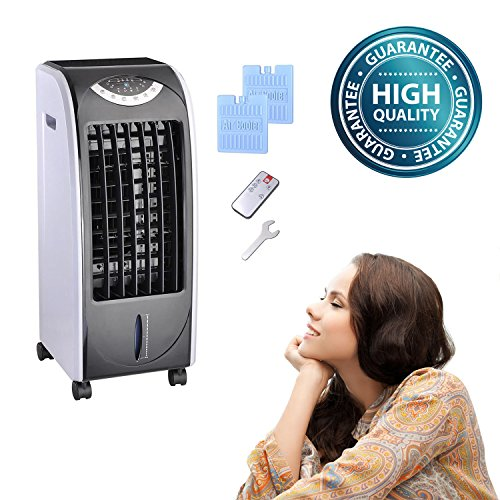 Koval Inc. 65W Portable Remote Control Evaporative Air Cooler Fan Humidifier with 6L Tank (65 W, Gray) (Room Heaters And Cooler compare prices)