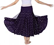 CISMARK Elegant Sequin Ballroom Waltz Dancing Long Swing Party Skirt One Size