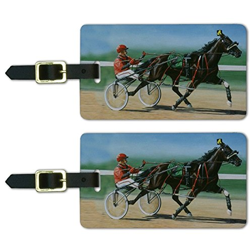 Harness Racing Horse Sulky Trotter Luggage ID Tags Carry-On Cards - Set of 2 -  GRAPHICS & MORE, LUGGAGE.TAGS.QQJQLMG00.Z001443_8