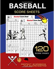 Baseball Score Sheets: 120 Baseball Score Sheets   Baseball Scorebook   Baseball Score Pads   Baseball Scorekeeper   Book Baseball Scorecard   Size: 8.5 x11 inches 120 Pages