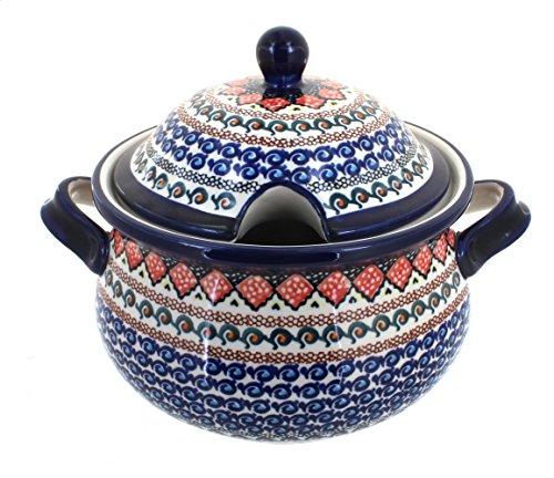 Polish Pottery Blue Horizon Soup Tureen by Zaklady (Image #1)