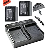 BM Premium Fully Decoded 2-Pack of BP-727 Batteries and USB Dual Battery Charger for Canon Vixia HF R70, HF R72, HF R700 HFM50, HFM52, HFM500, HFR30, HFR32, HFR300, HFR40, HFR42, HFR400, HFR50, HFR52, HFR500, HFR60, HFR62, HFR600 Camcorder
