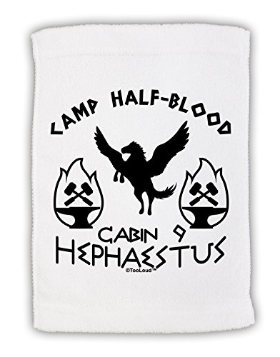 Anvil Terry Hand Towel - TooLoud Cabin 9 Hephaestus Half Blood Micro Terry Sport Towel 11