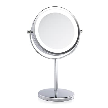 Lighted Makeup Mirror IREALIST Tabletop Vanity Round Double Sided Cosmetic  Mirror 3 X MagnifyingAmazon Com Lighted Makeup Mirror IREALIST Tabletop  Vanity ...