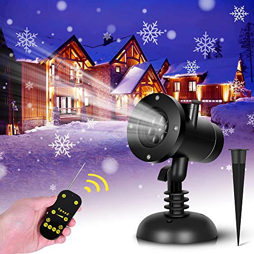 Christmas Snowflake Projector Lights - 16 Slides Home