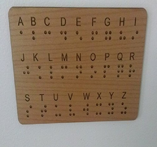 Braille Wall Panel Key for Escape Rooms ()