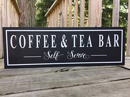 "Coffee Premium Quality 9/"" x 6/"" Wood Sign"