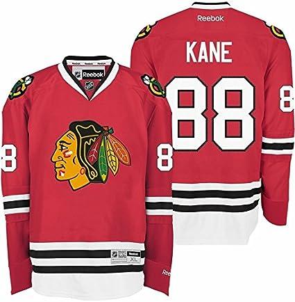 Chicago Blackhawks  88 Patrick Kane Red Reebok Premier Replica Hockey  Jersey (2X-Large c878c04f7