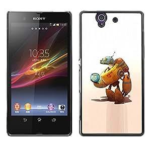 Estuche Cubierta Shell Smartphone estuche protector duro para el teléfono móvil Caso Sony Xperia Z L36H C6602 C6603 C6606 C6616 / CECELL Phone case / / Robot Alien Cat Space Ship Fis