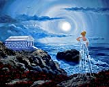 Her Tomb By the Sounding Sea Annabel Lee Iverson Original Painting on Canvas