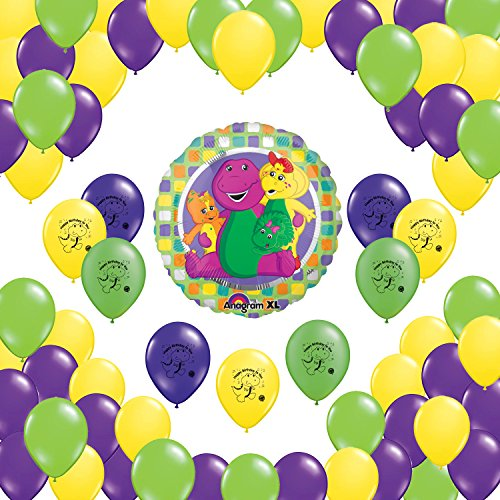 Barney Party Supplies Balloon Decorations Set - 52 Count