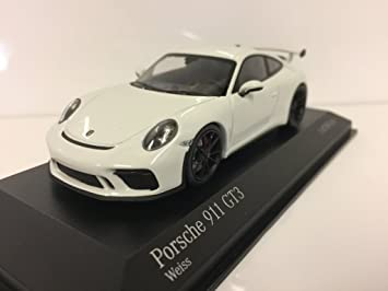 Minichamps - Porsche - 911/991 GT3 - 2016 Coche de ferrocarril de Collection, 410066025, Color Blanco: Amazon.es: Juguetes y juegos