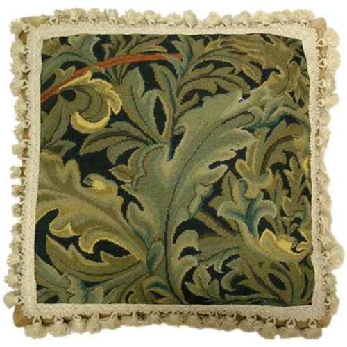 (Deluxe Pillows Blue Green Delight - 18 x 18 in. needlepoint pillow)
