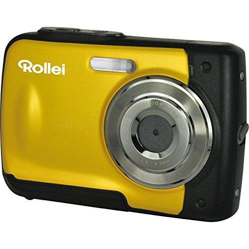 Rollei Sportsline 60 - vielseitige Digitalkamera mit 5 MP, 8-fach digitalem Zoom, 6 cm Display (2,4 Zoll), bildstabilisiert, spritzwasserfest und wasserdicht bis 3m - Geld