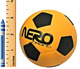 Nero NS200 High Bounce Rubber Toy Ball 3.5'' Soccer Futbol Training Style Great For Streets Park Back Yard Agility Ball Bulk Price Gifts (orange soccer)