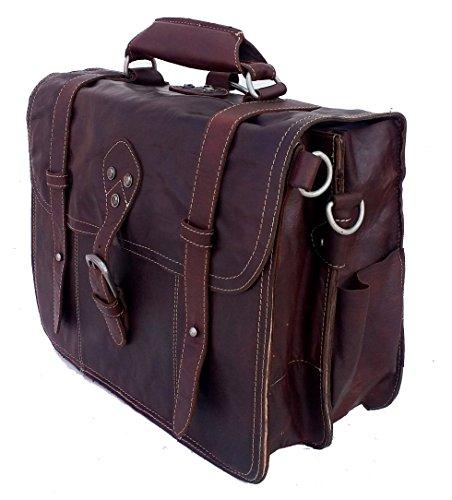 4-in-1 Tasche BROOKS | Echtes Büffel-Leder | Aktentasche Rucksack Schultertasche Fahrradtasche in einem | By Aski Bags (Brandy) Ym96SSpULY
