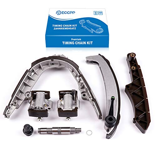 ECCPP 11311745406 Timing Chain Kit Tensioner Guide Rail Replacement for 98-03 BMW 540i 740i Z8 4.4L 4.6L