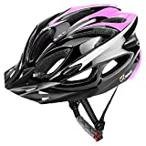 JBM Adult Cycling Bike Helmet Specialized for Mens Womens Safety Protection Red/Blue / Yellow (Black & Pink, Adult)