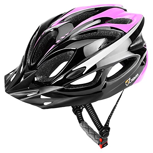 JBM international JBM Adult Cycling Bike Helmet Specialized for Mens Womens Safety Protection Red/Blue/Yellow (Black & Pink, (Black Yellow Skate Pads)
