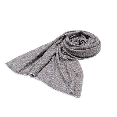 Cashmina House zigzag classic scarf | Cashmere Pashmina | 100% Authentic Hand-Combed Luxurious, Softest & Warmest Scarves | Beautifully Crafted & Stylish Finish by Cashmina House (Image #4)