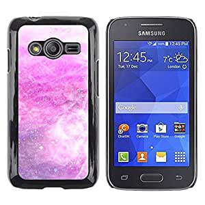 Paccase / SLIM PC / Aliminium Casa Carcasa Funda Case Cover - Storm Snow Stars Abstract White - Samsung Galaxy Ace 4 G313 SM-G313F