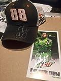 Dale Earnhardt Jr. Autographed signed Hat And Signed Hero Card - Autographed NASCAR Cards