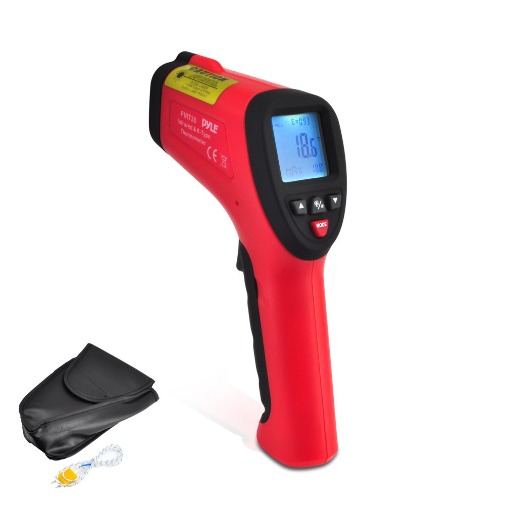 PYLE Meters PIRT30 High Temperature Infrared Thermometer with Type K Input by Pyle - Meters