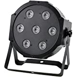 OTTFF® 7X10W RGBW LED Par Can Light for DJ Disco Club Bar Party Show DMX512 Bright Projector Stage Lighting