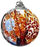 Kitras Art Glass Decorative Spirit Ball, 6-Inch, Orange