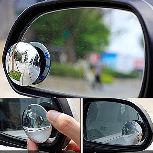 SaveStore 2pcs Car Mirror 360 Wide Angle Round Convex Mirror Car Vehicle Side Blindspot Blind Spot Mirror Small Round Mirror